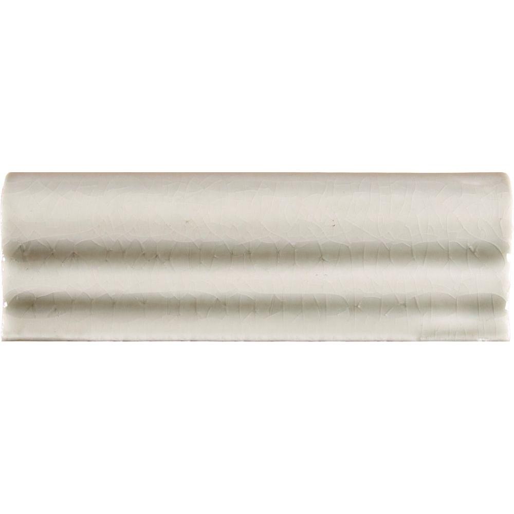 Ms international antique white 2 in x 6 in glazed ceramic crown ms international antique white 2 in x 6 in glazed ceramic crown molding wall tile pt crwn aw2x6 the home depot doublecrazyfo Image collections