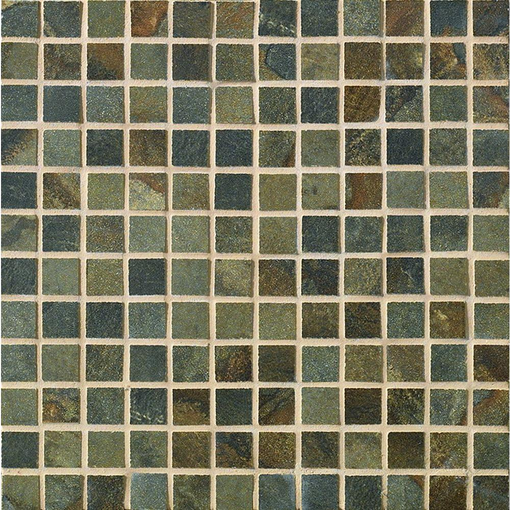 MARAZZI Sage 13 in. x 13 in. x 8-1/2mm Taupe Porcelain Mesh-Mounted Mosaic Floor and Wall Tile