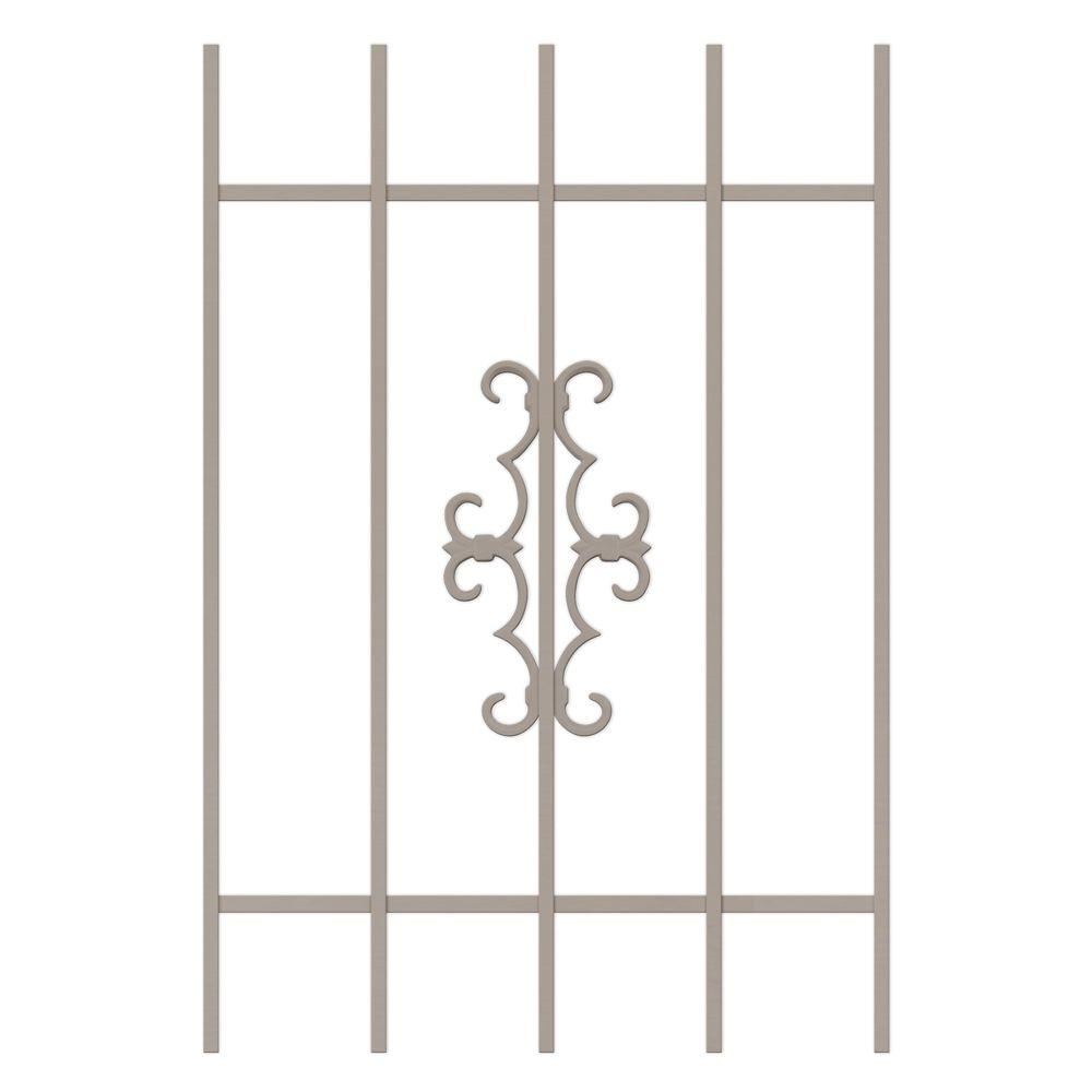 Unique Home Designs Watchman Trio 24 in. x 36 in. Tan 5-Bar Window Guard-DISCONTINUED