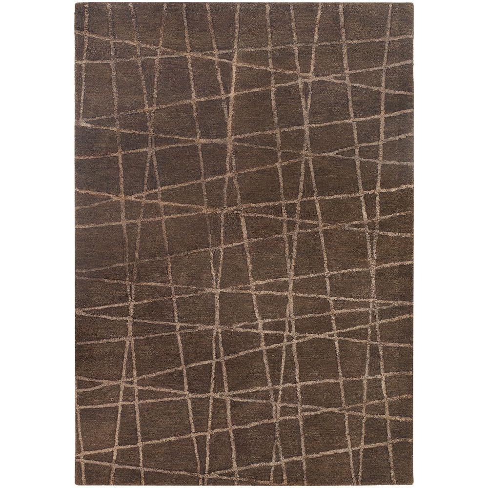 Oslo Brown/Light Brown 5 ft. x 7 ft. 6 in. Indoor Area Rug