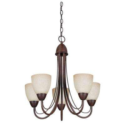 Tempest 5-Light Rubbed Bronze Chandelier