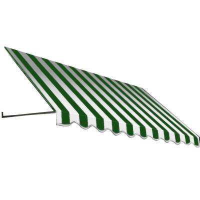 3 ft. Dallas Retro Window/Entry Awning (44 in. H x 48 in. D) in Forest/White Stripe