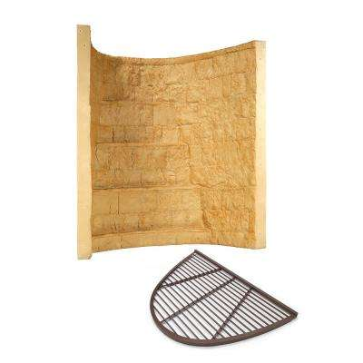66 in. x 44 in. x 72 in. Tan Elite Composite Window Well with Aluminum Bar Grate
