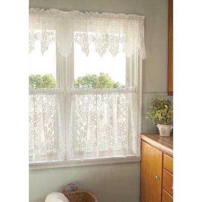 Dogwood 55 in. L Polyester Valance in White