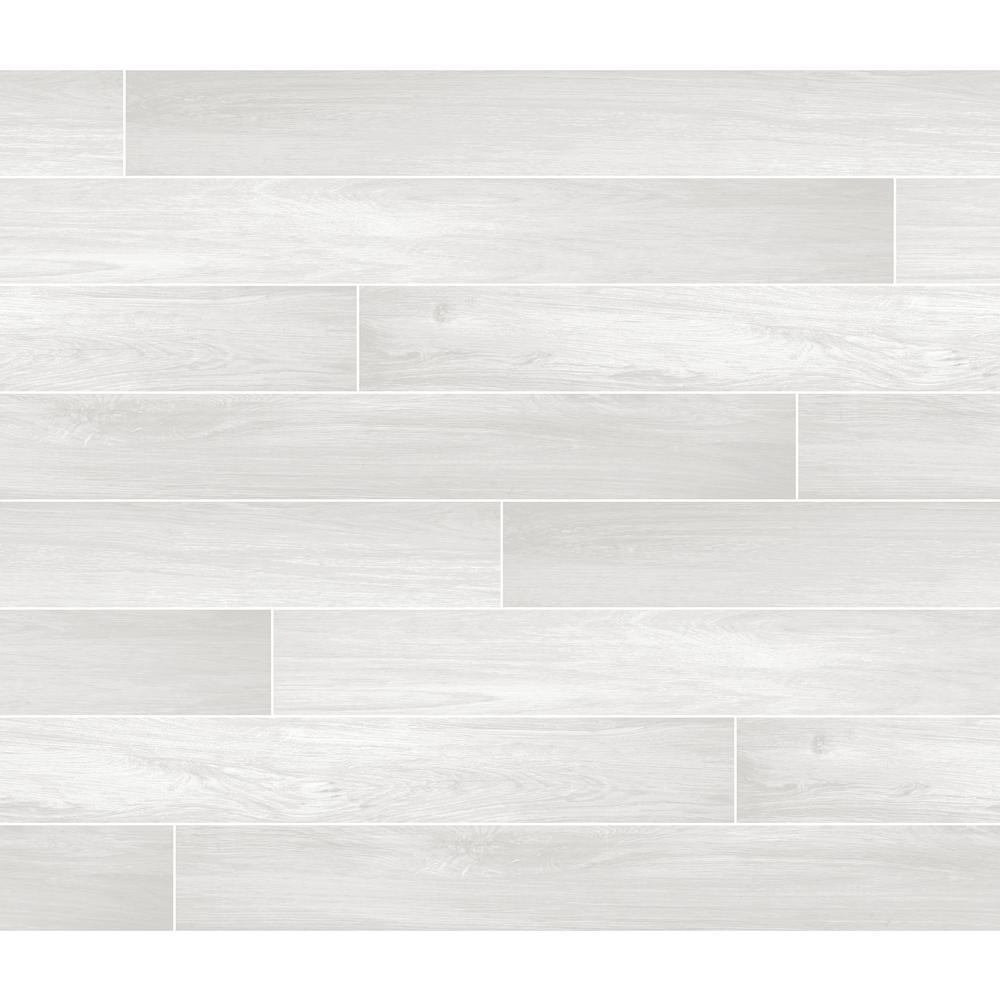 Brewster Ivory Timber Tile Wall Applique Peel & Stick Backsplash BHF3047