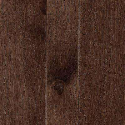 Take Home Sample Franklin Coffee Bean Hickory 3/4 in. Thick x Multi-Width x Varying Length Solid Hardwood-5 in. x 7 in.