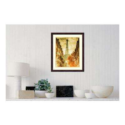 19.88 in. W x 23.50 in. H Vintage Eiffel Tower by Anon Printed Framed Wall Art