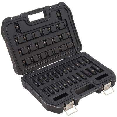 1/4 in. Drive Metric and SAE Impact Socket Set (48-Piece)