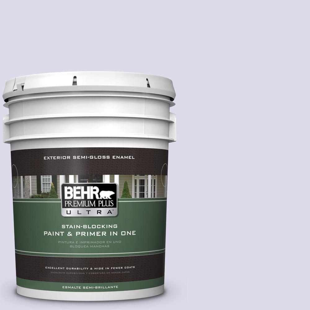 5-gal. #640A-2 Misty Violet Semi-Gloss Enamel Exterior Paint