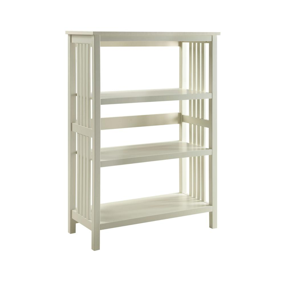 3 Shelf White Bookcase Best 2017