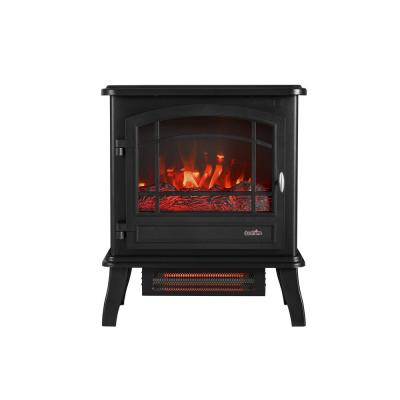 1,000 sq. ft. Infrared Quartz Electric Stove in Black