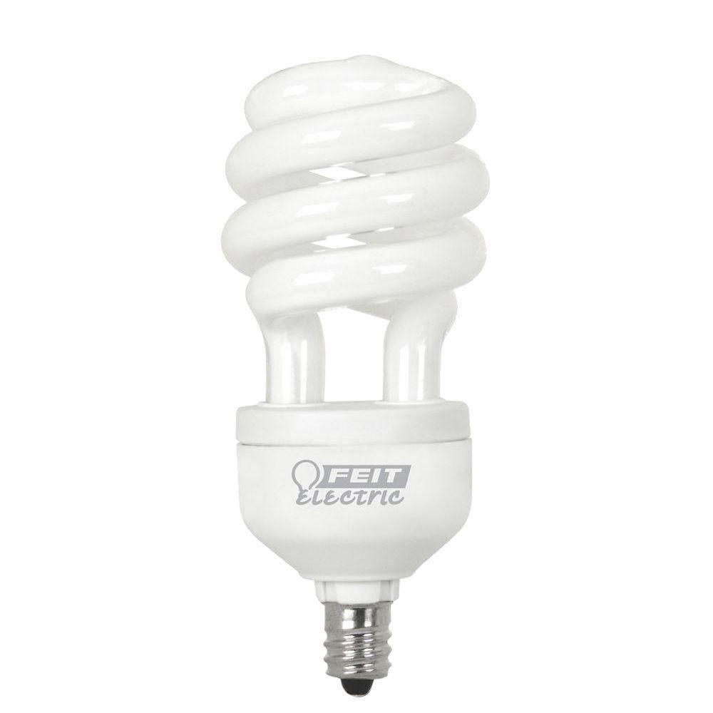 Feit Electric 60W Equivalent Daylight (6500K) Candelabra Base Spiral CFL Light Bulb (24-Pack)