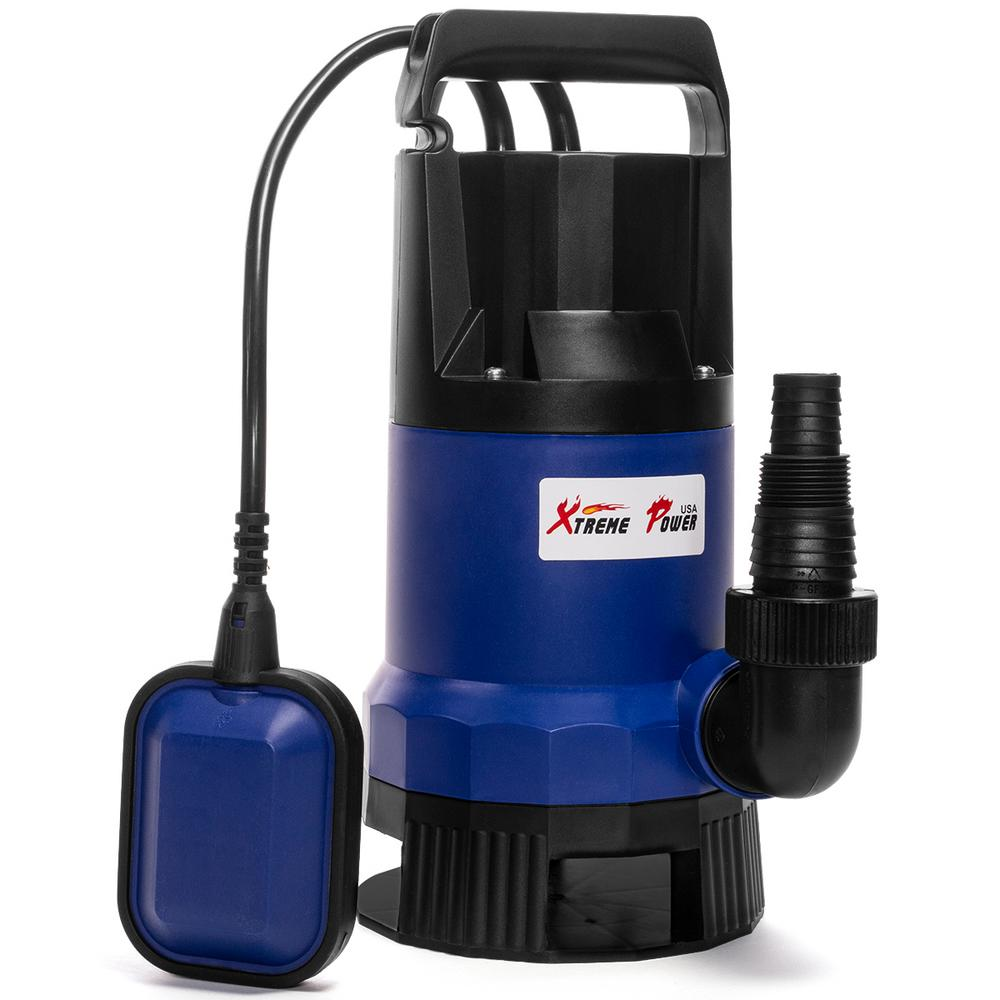 XtremepowerUS - 1/2 HP Dirty and Clean Water Submersible Thermoplastic Utility Sump Pump 25 ft. Cord