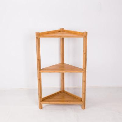 35.2 in. Natural Wood 3-shelf Accent Bookcase with Open Back