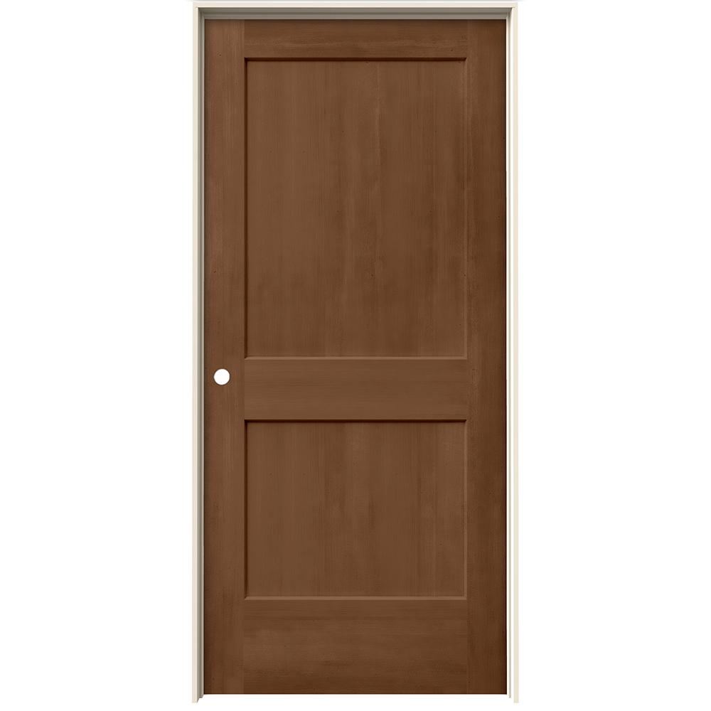 Jeld Wen 36 In X 80 In Monroe Hazelnut Stain Right Hand Molded Composite Mdf Single Prehung