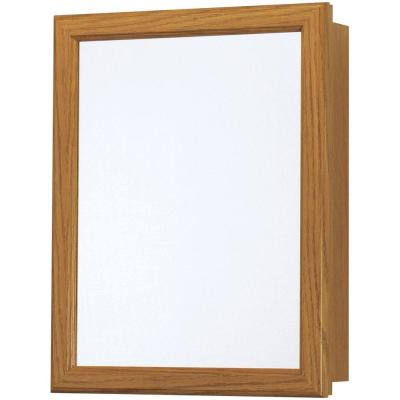 15-1/4 in. W x 19-1/4 in. H x 5 in. D Framed Recessed or Surface-Mount Bathroom Medicine Cabinet in Oak
