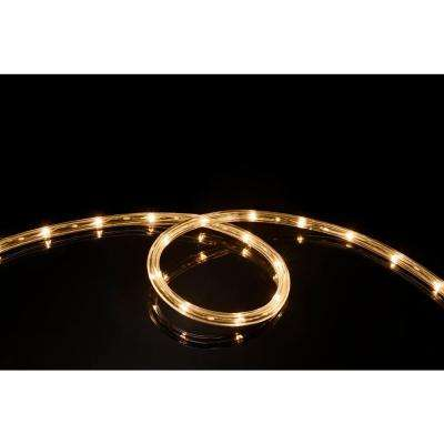 16 ft. Soft White All Occasion Indoor Outdoor LED Rope Light 360° Directional Shine Decoration