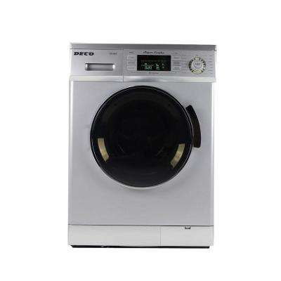 All-in-One 1.6 cu. ft. Compact Combo Washer and Electric Dryer with Optional Condensing/Venting Dry in Silver
