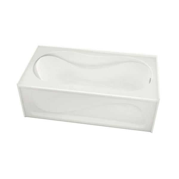 Cocoon 60 in. Acrylic Right Hand Drain Rectangular Apron Front Bathtub in White