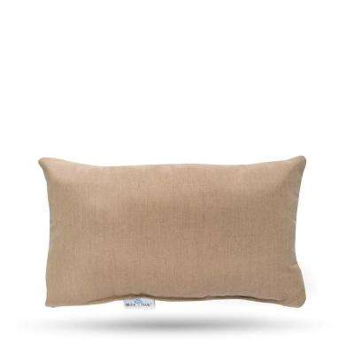 Sunbrella Heather Beige Rectangular Lumbar Outdoor Throw Pillow (2-Pack)