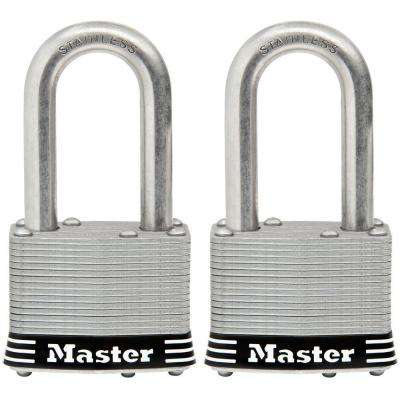 1-3/4 in. Laminated Stainless Steel Keyed Padlock with 1-1/2 in. Shackle (2-Pack)