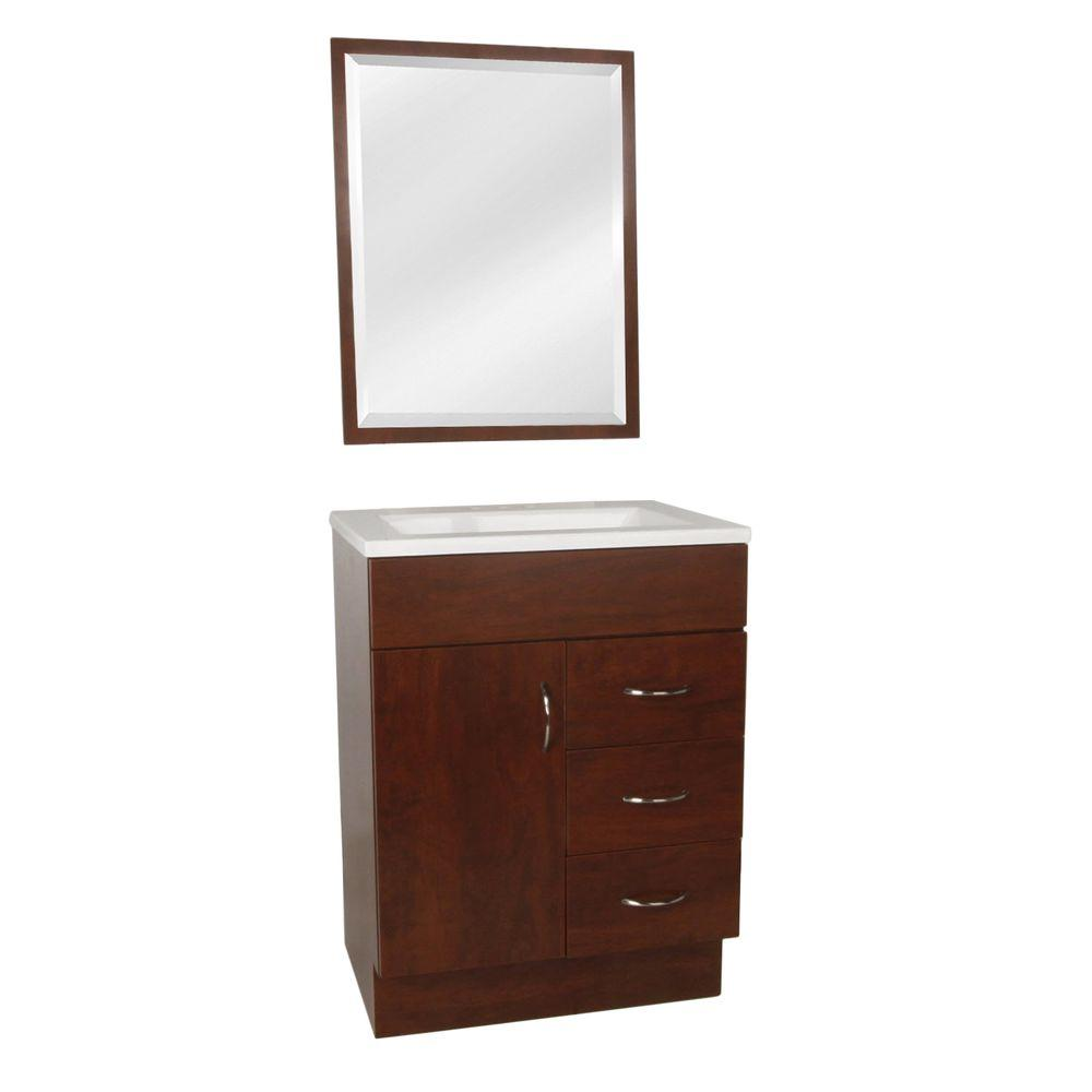 St. Paul Vanguard 24 In. W Vanity In Hazelnut With AB Engineered Composite  Vanity