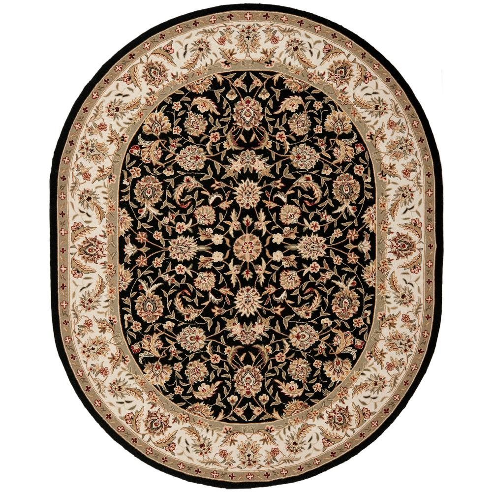 Safavieh Chelsea Black 7 Ft 6 In X 9 Ft 6 In Oval Area