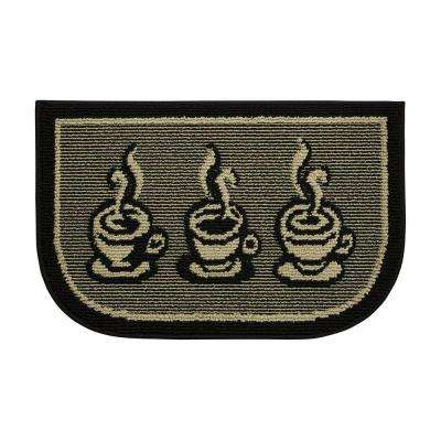 3 Cups a Day 18 in. x 30 in. Kitchen Rug