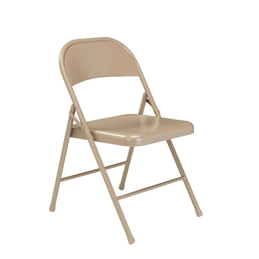 Nps 900 Series Beige All Steel Commercialine Folding Chairs 4 Pack