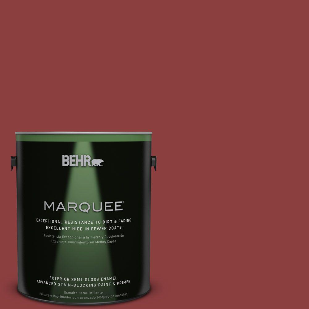 1-gal. #BXC-27 Carriage Red Semi-Gloss Enamel Exterior Paint