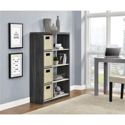 Winlen Carmen Oak and Natural Oak Storage Open Bookcase