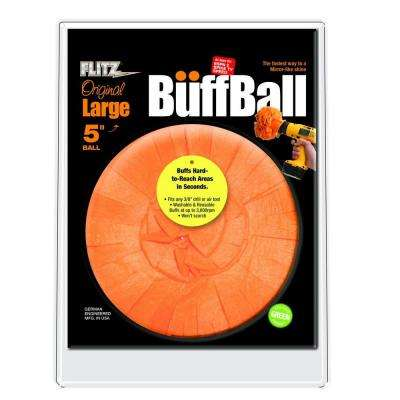 5 in. Orange Large Original Buff-Ball in Clamshell Packaging