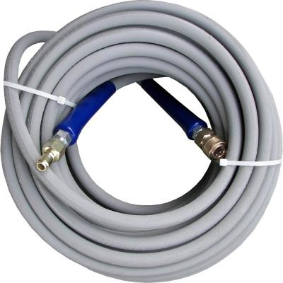 3/8 ft. x 100 ft. Gray Pressure Washer Replacement Hose, Non-Marking with Quick Disconnects
