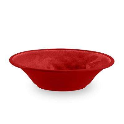 Crackle Red Cereal Bowl (Set of 12)