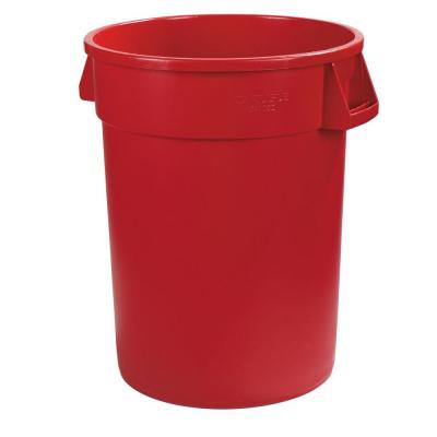 Bronco 32 Gal. Red Round Trash Can (4-Pack)