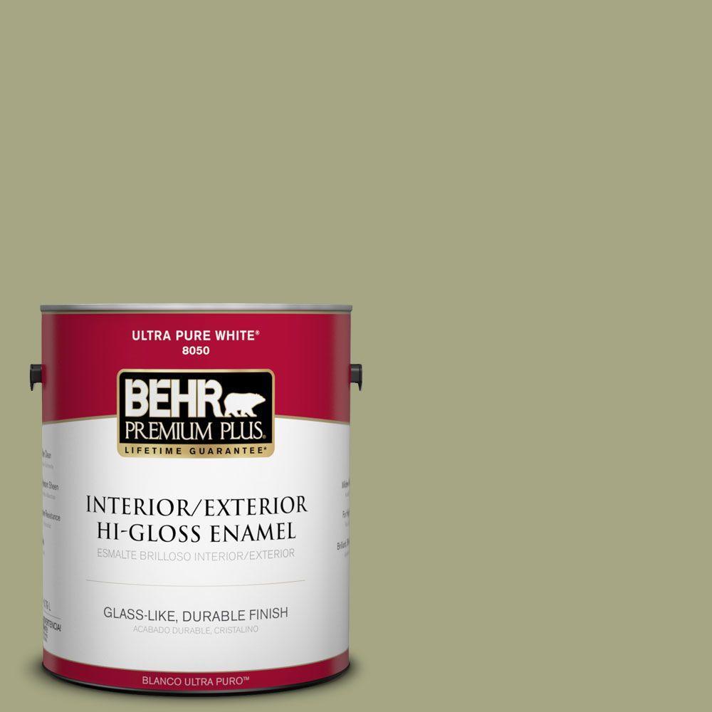 1-gal. #S370-4 Rejuvenation Hi-Gloss Enamel Interior/Exterior Paint