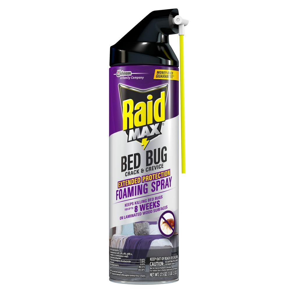 Raid Max 17 5 Oz Crack And Crevice Bed Bug Killer Foaming 305739 The Home Depot