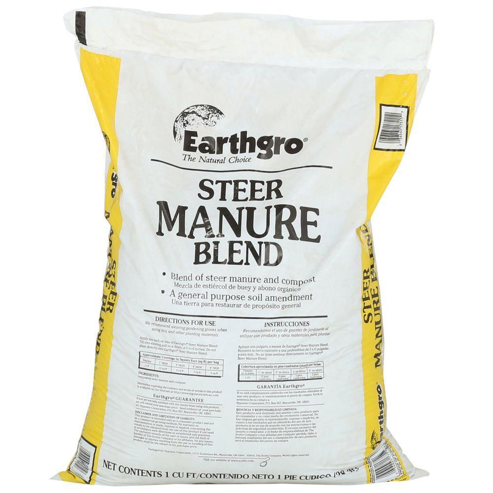 1 CF Steer Manure Blend