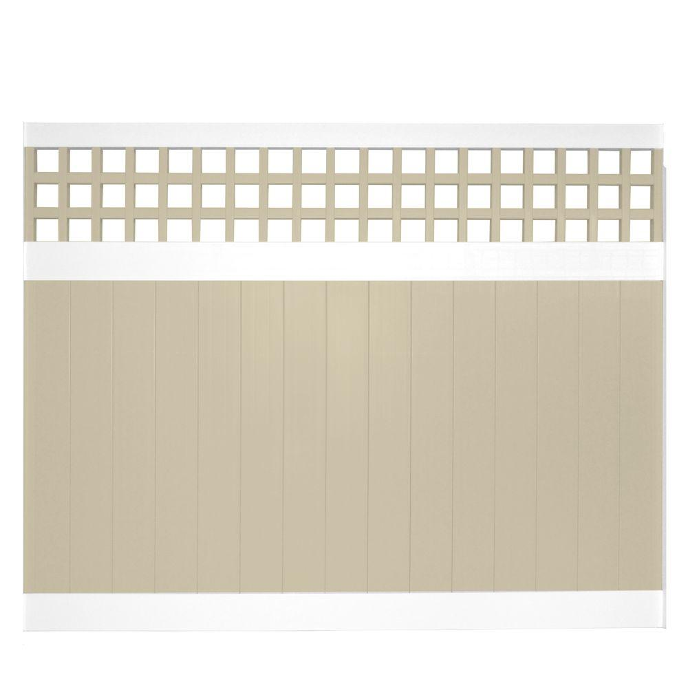 scottsdale 6 ft h x 8 ft w twotone square lattice vinyl privacy fence the home depot