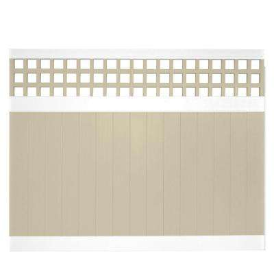 Scottsdale 6 ft. H x 8 ft. W Two-Tone Square Lattice Vinyl Privacy Fence Panel