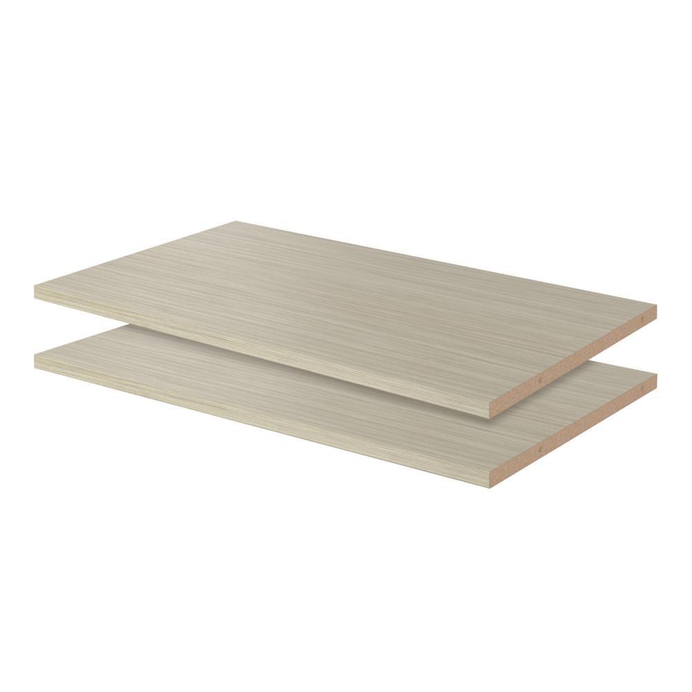14 in. x 24 in. Rustic Grey Wood Shelf (2-Pack)
