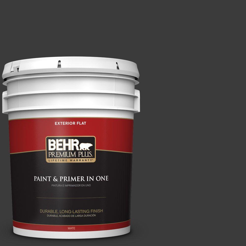 BEHR Premium Plus 5-gal. #770F-7 Beluga Flat Exterior Paint