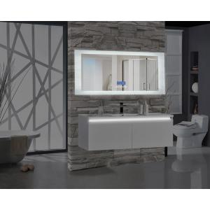 Encore BLU102 70 inch W x 27 inch H Rectangular LED Illuminated Bathroom Mirror with Bluetooth Audio Speakers by
