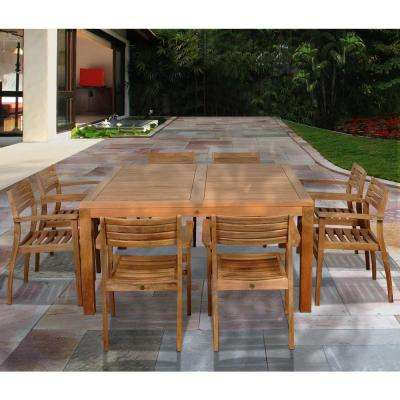 Victoria Square 9-Piece Teak Patio Dining Set