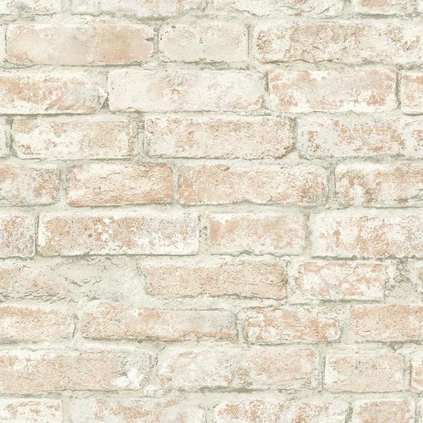 Chesapeake 56.4 sq. ft. Arlington Multicolor Brick Wallpaper 3115-12482