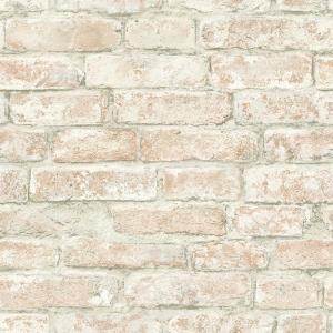 8 in. x 10 in. Arlington Multicolor Brick Wallpaper Sample
