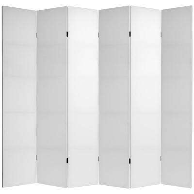 7 ft. White Do It Yourself Canvas 6-Panel Room Divider