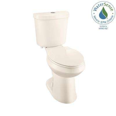 2-piece 1.1 GPF/1.6 GPF High Efficiency Dual Flush Elongated Toilet in Bone