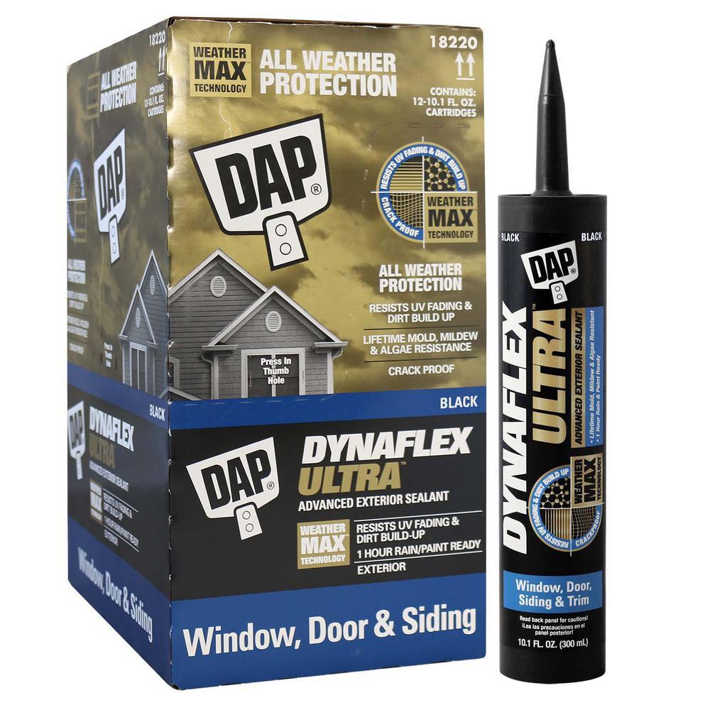 Dynaflex Ultra Black 10.1 oz. Advanced Exterior Window, Door and Siding Sealant (12-Pack)