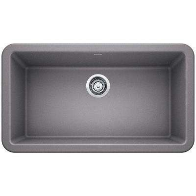 Ikon Apron Front Granite Composite 32 in. Single Bowl Kitchen Sink in Metallic Gray